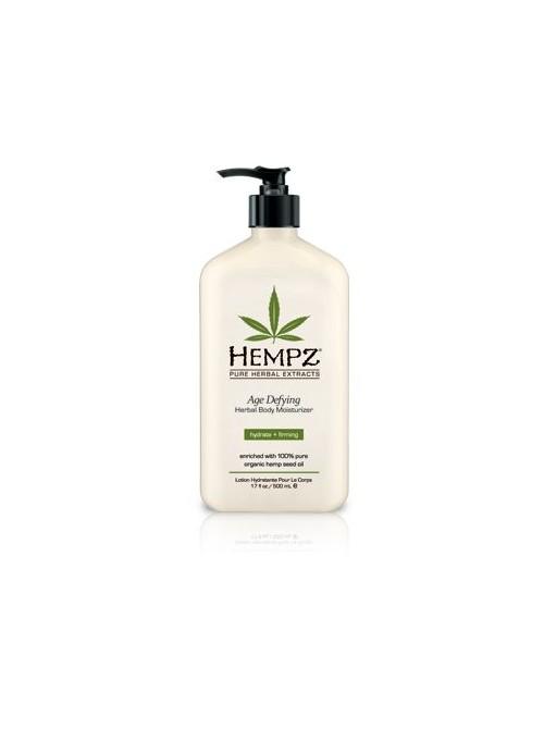 Drėkinantis kūno pienelis su augaliniais ekstraktais prieš odos senėjimą Hempz Age Defying Moisturizer 500 ml