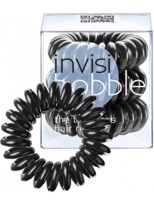 Gumytės plaukams Invisibobble Standart Traceless Hair Ring True Black IB-12, 3 vnt.