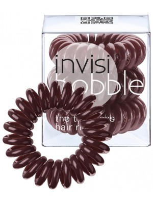 Gumytės plaukams Invisibobble Standart Traceless Hair Ring Chocolate Brown, 3 vnt.