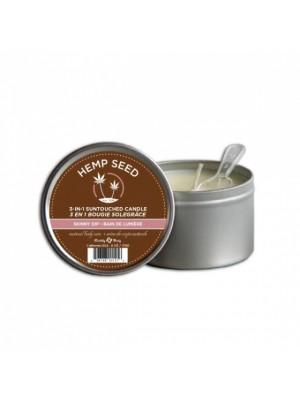 HEMP SEED masažinė, kūną drėkinanti ir kvepianti Skinny Dip žvakė (190g)