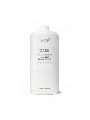 Keune CARE šampūnas sausiems, pažeistiems plaukams VITAL NUTRITION, 1000ml