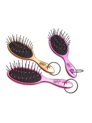 The Wet Brush raktų pakabukas (auksinis, violetinis, rožinis)
