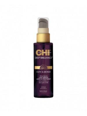 CHI Deep Brilliance nenuskalaujamas plaukų serumas su alyvugių ir Monoi aliejais 89ml