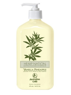 Drėkinantis losjonas po deginimosi Australian Gold Hemp Nation Vanilla Pineapple 473ml