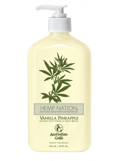 Drėkinantis losjonas po deginimosi Australian Gold Hemp Nation Vanilla Pineapple 473ml