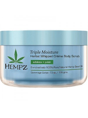 HEMPZ Kūno šveitiklis TRIPLE MOISTURE HERBAL WHIPPED CREME BODY SCRUB, 215ml