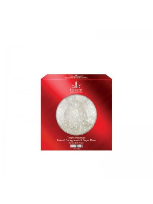 Vonios burbulas su granatų ir slyvų ekstraktais HEMPZ Triple Moisture Frosted Pomegranate & Sugar Plum Bath Fizzer 198g