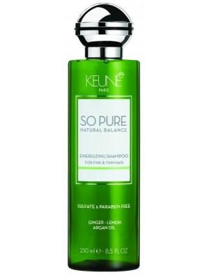 KEUNE SO PURE Energijos suteikiantis šampūnas, 250 ml