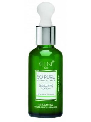 KEUNE SO PURE Energijos suteikiantis plaukų augimo losjonas, 45 ml